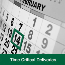 time critical deliveries